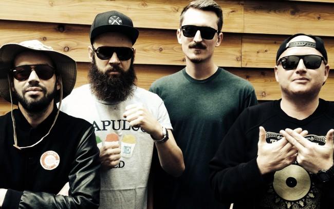 Crux Pistols Munich's DJ-crew Pretty Boy, Dan Gerous, Tommy Montana and Not.Fx wearing gloryfy.
