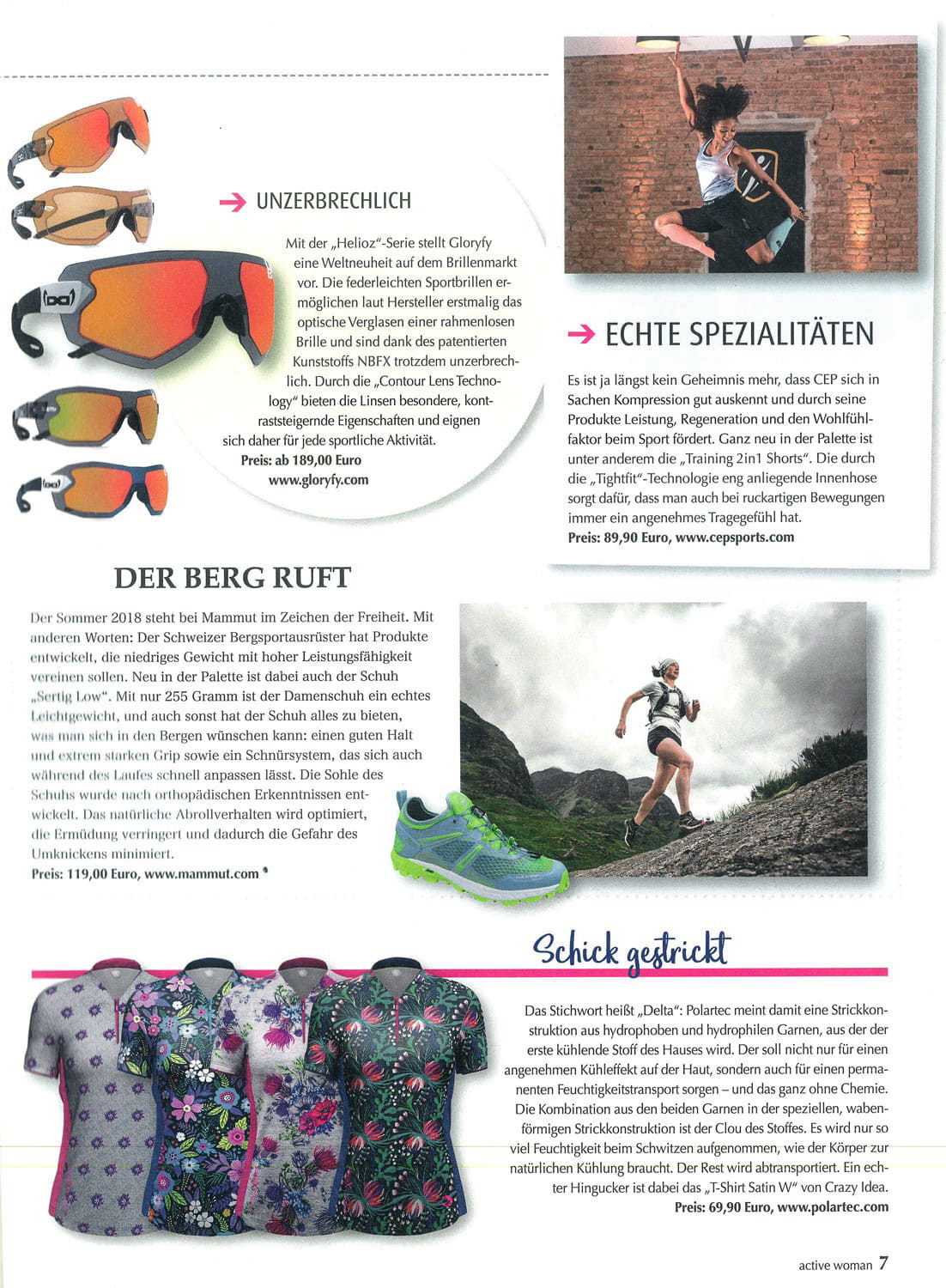 gloryfy Active Woman Magazin G9 Helioz Serie Sonnenbrille