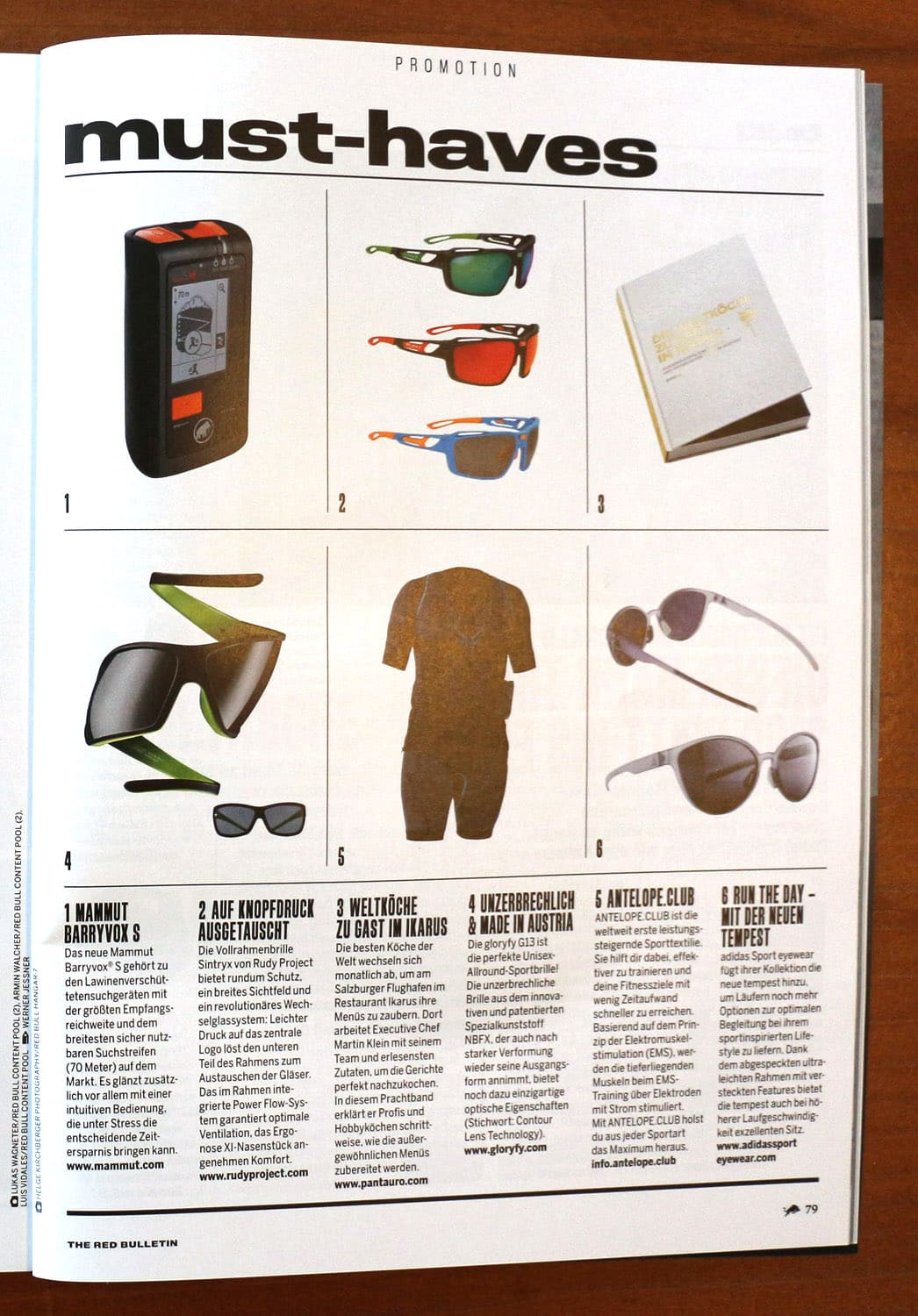 gloryfy The Red Bulletin Magazin G13 Devil Green Sonnenbrille