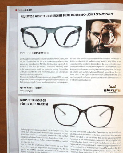 gloryfy Eyecom Magazin FirstChoice Vintage green optische Brille