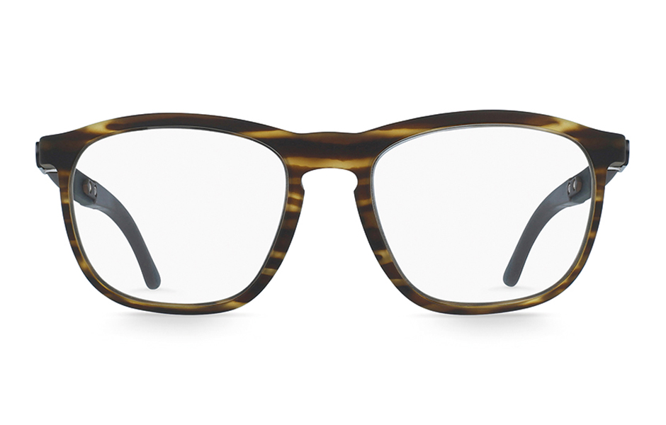 gloryfy Soho Stripes Brown optische Brille Frontansicht