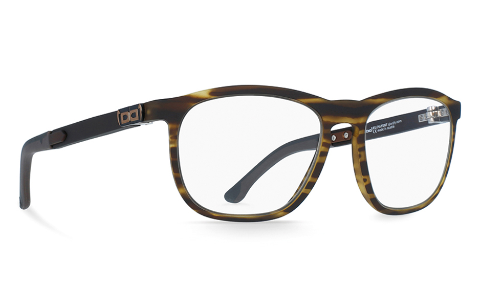 gloryfy Soho Stripes Brown optische Brille Perspektive