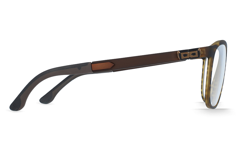 gloryfy Soho Stripes Brown optische Brille Seitenansicht