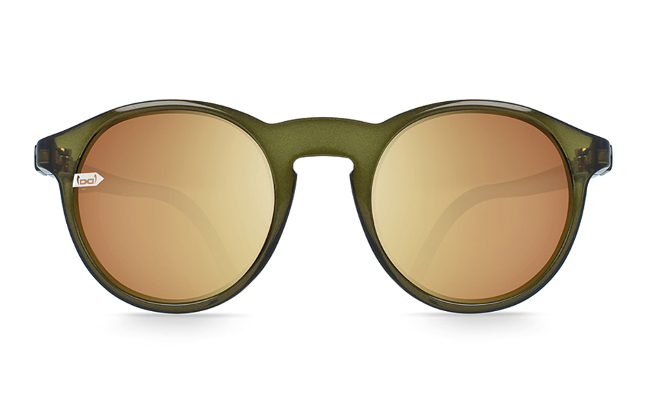 gloryfy unbreakable Gi8 Panto Olive Sonnenbrille Frontansicht