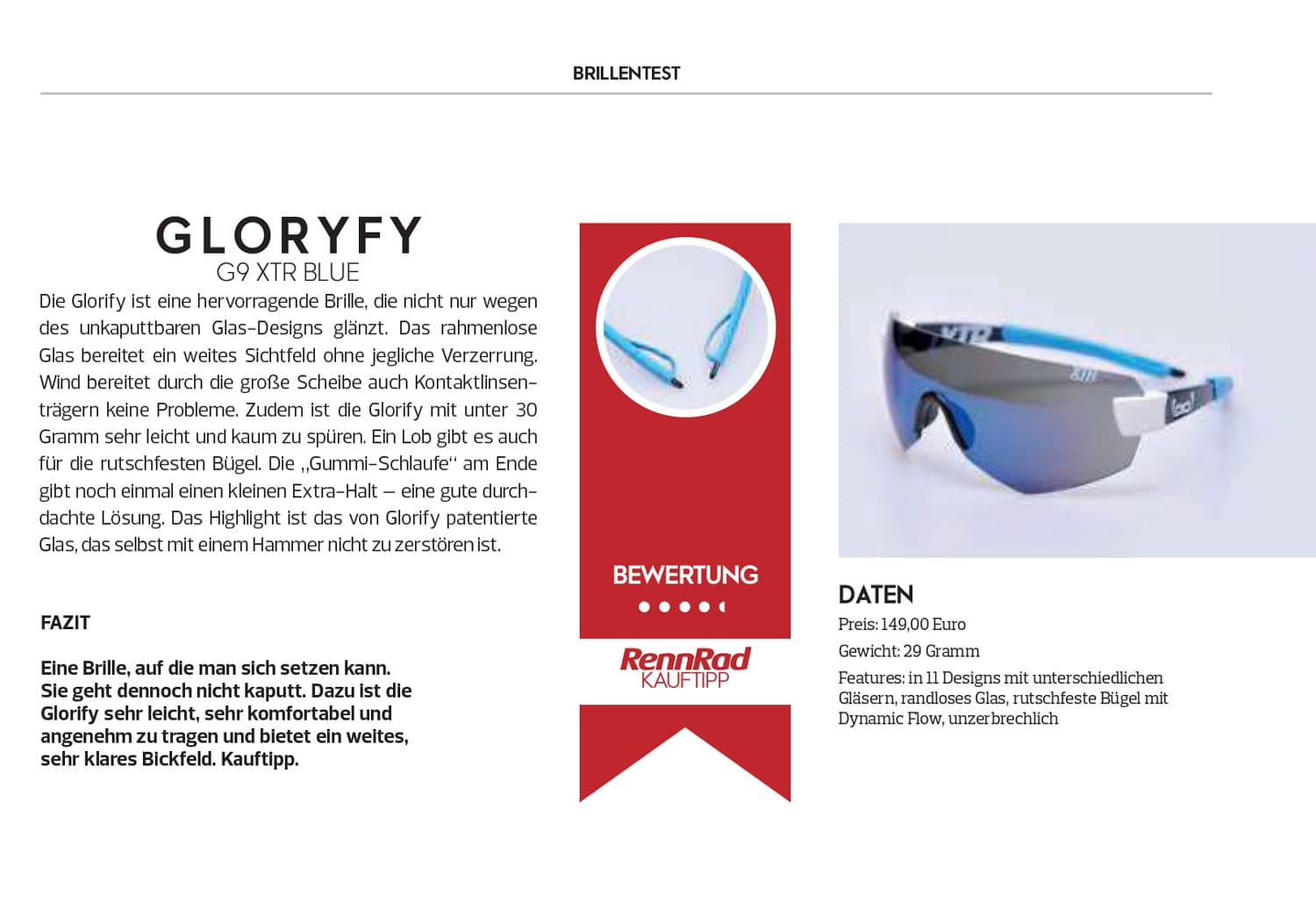 gloryfy Outdoor Magazin G13 One4All Sonnenbrille
